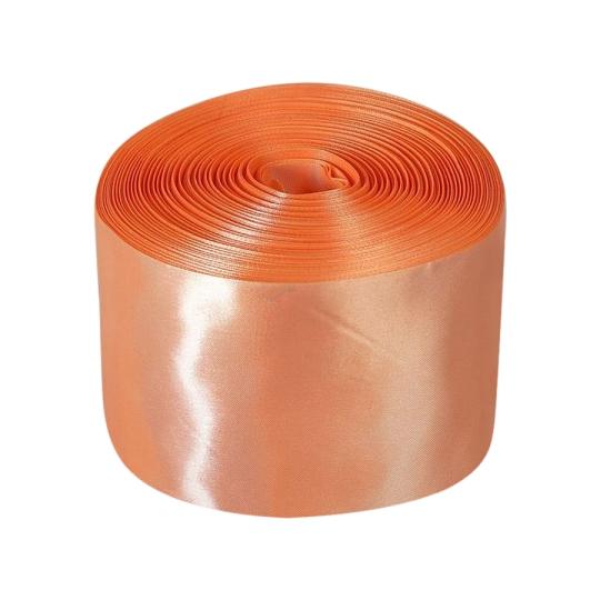 Лента атлас 10см/100м персик