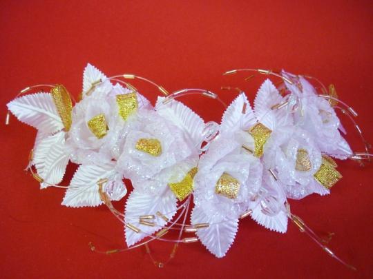 Веночек бело-золотой №1