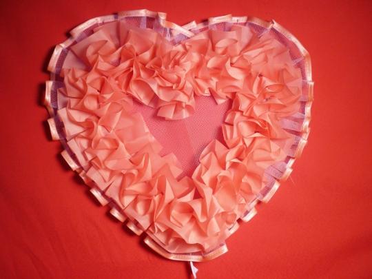 Сердце №10 атлас персик