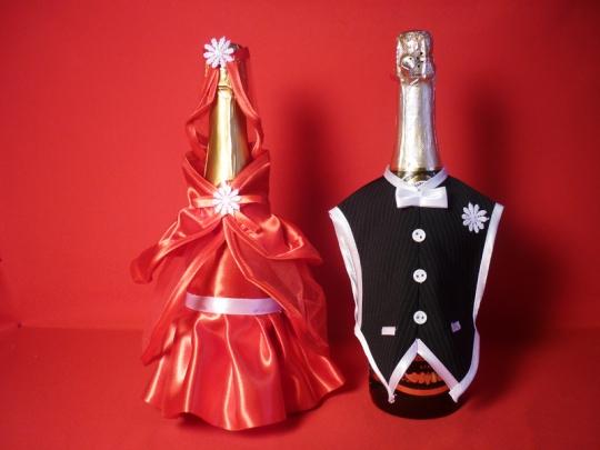 Костюм на шампанское №4 красный (5пар)