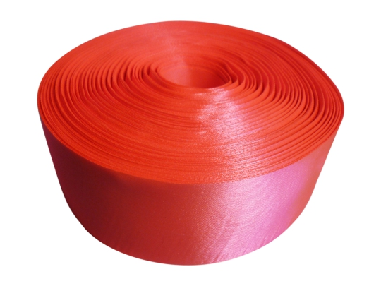Лента атлас 5см/100м ярко-оранжевая
