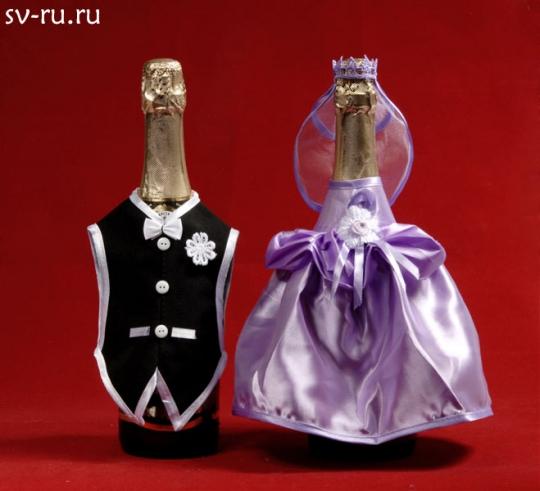 Костюм на шампанское №7 сиреневый (5пар)