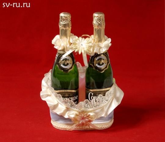 Корзина для шампанского Ладья беж