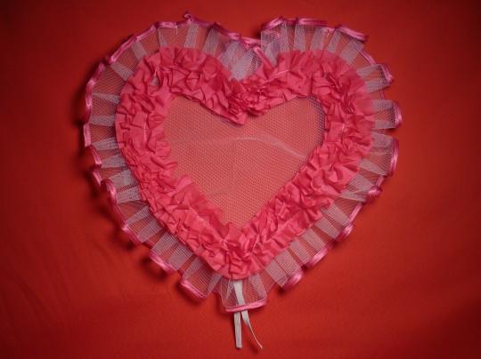 Сердце №5 п/э ярко розовое