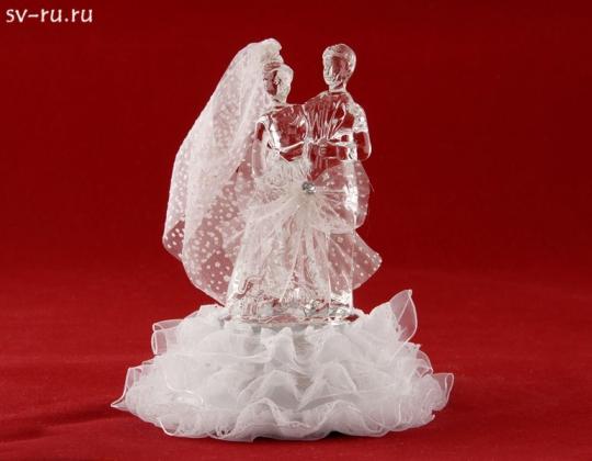 Свадебная пара из стекла с LED подсветкой GM-33338