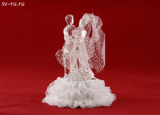 Свадебная пара из стекла с LED подсветкой GM-33337