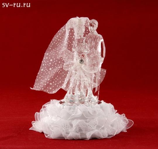 Свадебная пара из стекла с LED подсветкой GM-33331
