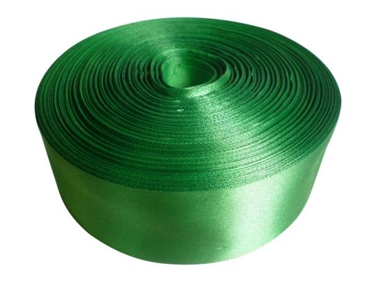 Лента атлас 5см/100м светло-зелёная