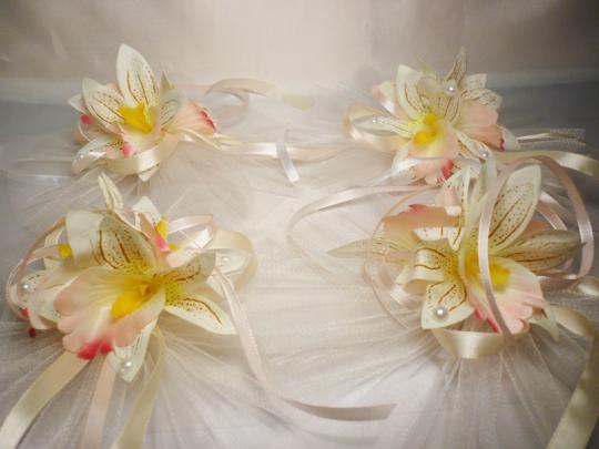 Цветы на зеркала и ручки а/м Орхидея (уп.4 шт)