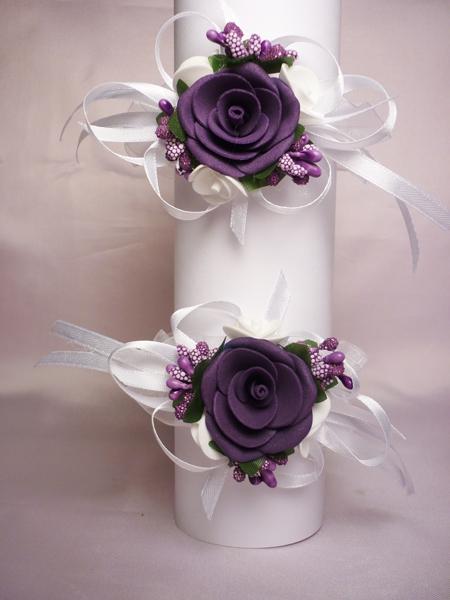 Бутоньерка №3 фиолет (2шт)