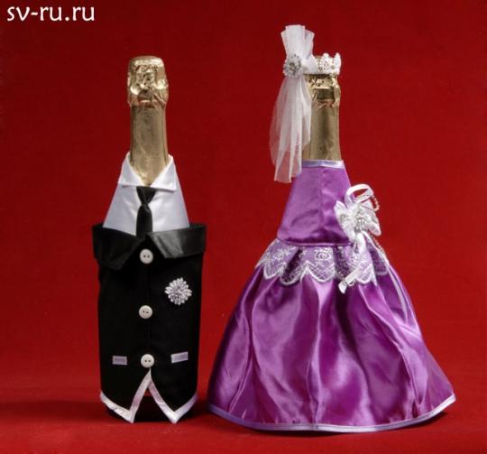 Костюм на шампанское №11 фиолет (5пар)