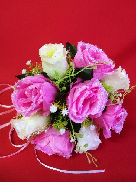Букет Авива бело-розовый