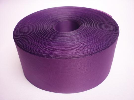 Лента полиэстер 5см/100м фиолетовая