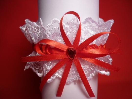 Подвязка (уп. 5 шт) бел-красн