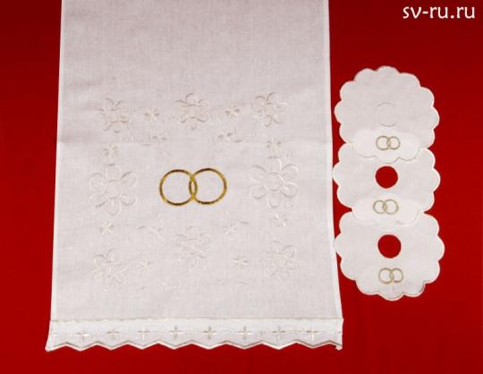 Набор венчальный (айвори)