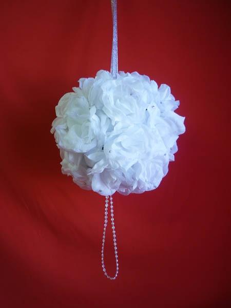 Декорация Шар 25см белый