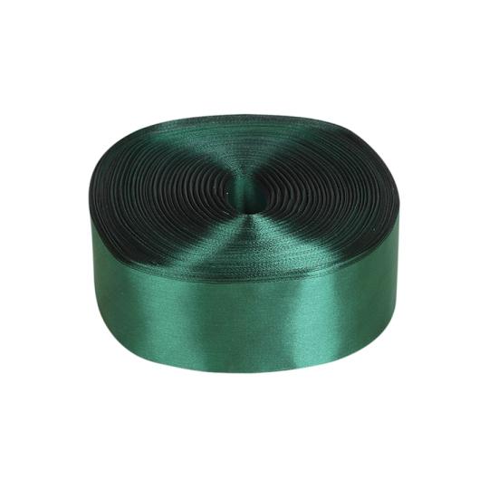 Лента атлас 5см/100м тёмно-зелёный