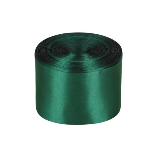 Лента атлас 10см/100м тёмно-зелёный