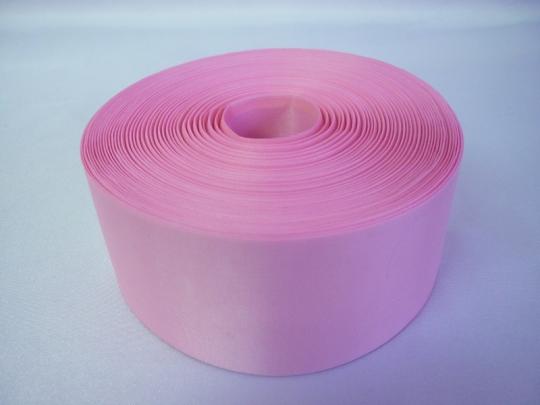Лента полиэстер 5см/100м розовая