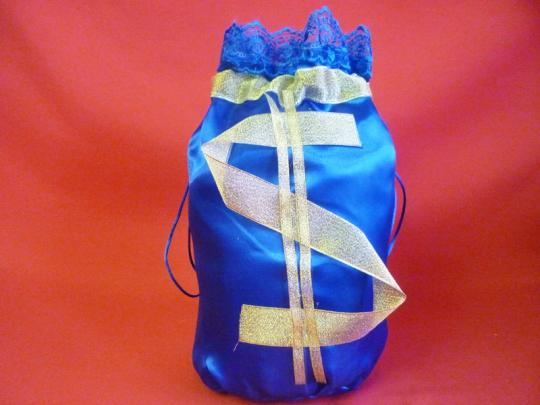 Мешок для денег  $  (упак 5 шт.) синий