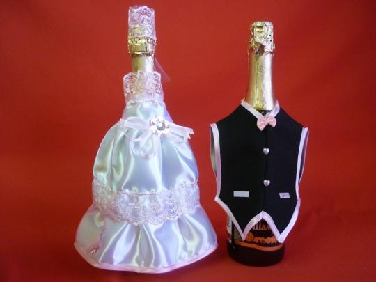 Костюм на шампанское №6 бело-розовый (5шт)