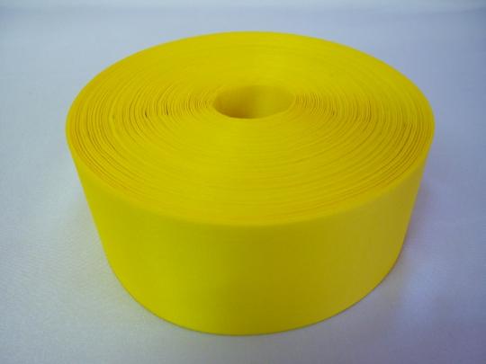 Лента полиэстер 5см/100м жёлтая
