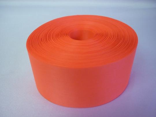 Лента полиэстер 5см/100м оранжевая