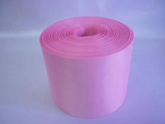 Лента полиэстер 10см/100м розовая