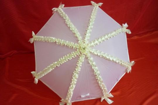 Зонт Волна бело-айвори