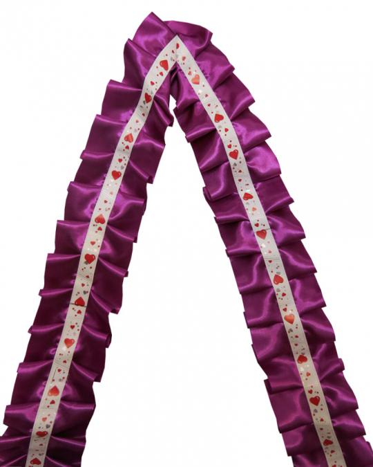 Рюшь на а/м сборная атлас фиолетовая