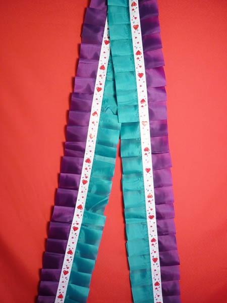 Рюшь на а/м сборная п/э зелёно-фиолетовый