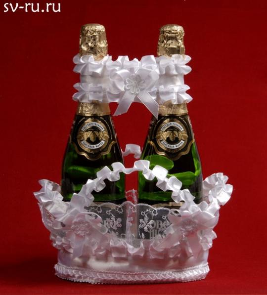 Корзина для шампанского белая