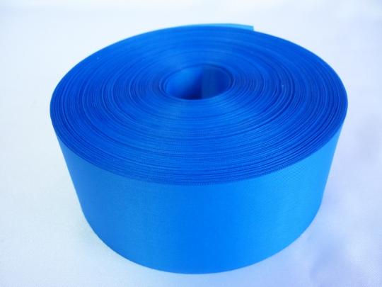 Лента полиэстер 5см/100м ярко-голубая