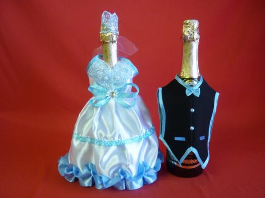 Костюм на шампанское №14 бело-голуб (5шт)