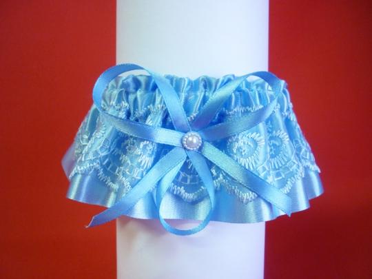 Подвязка №4 голубая