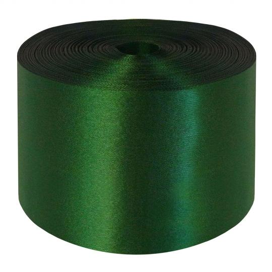 Лента атлас 10см/98м зелёная