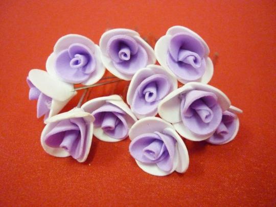 Цв. на шпильке роза 2см (уп.10шт) (бел-сирен)