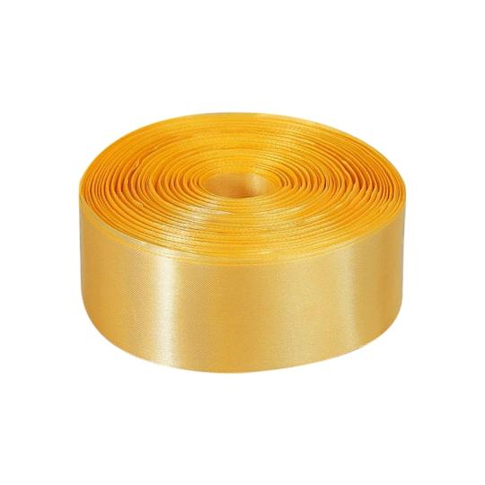 Лента атлас 5см/100м золото светлое