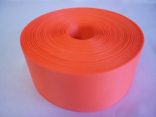 Лента полиэстер 5см/100м ярко-оранжевая