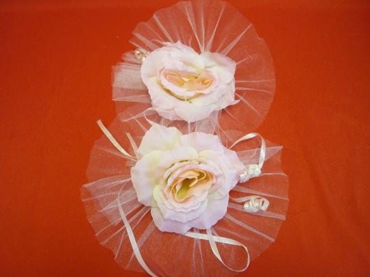 Цветы на зеркала и ручки а/м розовые (уп.2 шт)