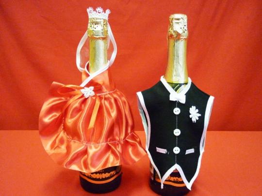 Костюм на шампанское №3 красный (5пар)