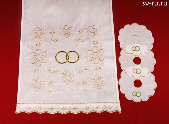 Набор венчальный (кремовый)
