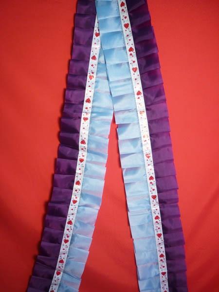 Рюшь на а/м сборная п/э фиолетовый-голубой
