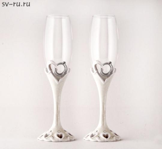 Св. бокалы Свадебные кольца, полистоун GL-206000