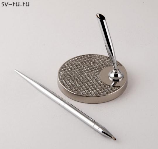 Ручка на круглой подставке со стразами SA-314001