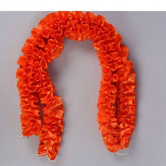 Рюшь на а/м объёмная атлас оранжевая