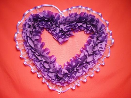 Сердце №10 п/э фиолетовое