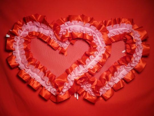 Сердца №10/5 п/э красно-розовые