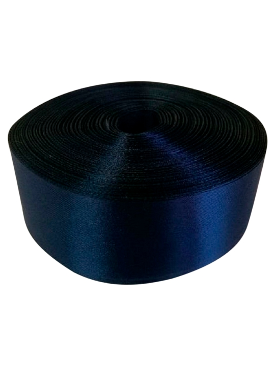 Лента атлас 5см/100м тёмно-синяя
