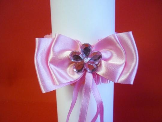 Подвязка №5 розовая.
